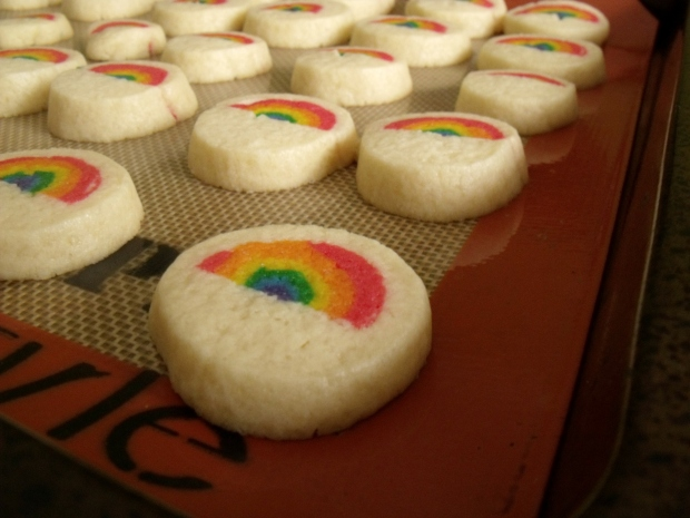 Rainbow Cookies by the Bluenose Baker